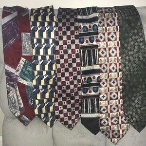 6 men's ties.